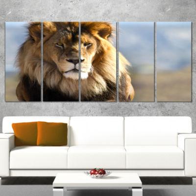 Fierce Face Of King Of The Wild African Canvas ArtPrint - 5 Panels
