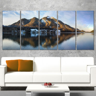 Fuschlsee In The Salzkammergut Large Seascape ArtWrapped Canvas Print - 5 Panels