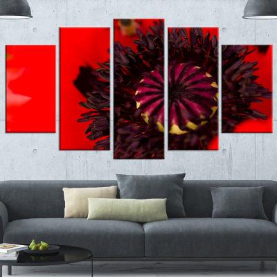 Designart Garden In Full Bloom On Summer Day Flowers CanvasWall Artwork - 5 Panels