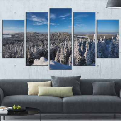 Gory Stolowe From Szczeliniec Mountains OversizedLandscape Wrapped Wall Art Print - 5 Panels