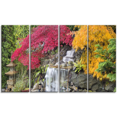 Designart Japanese Maple Trees Floral PhotographyArt - 4 Panels