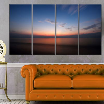 Designart Ko Samui Sea Sunrise Panorama OversizedBeach Canvas Artwork - 4 Panels