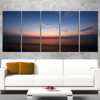 Designart Ko Samui Sea Sunrise Panorama OversizedBeach Wrapped Canvas Artwork - 5 Panels