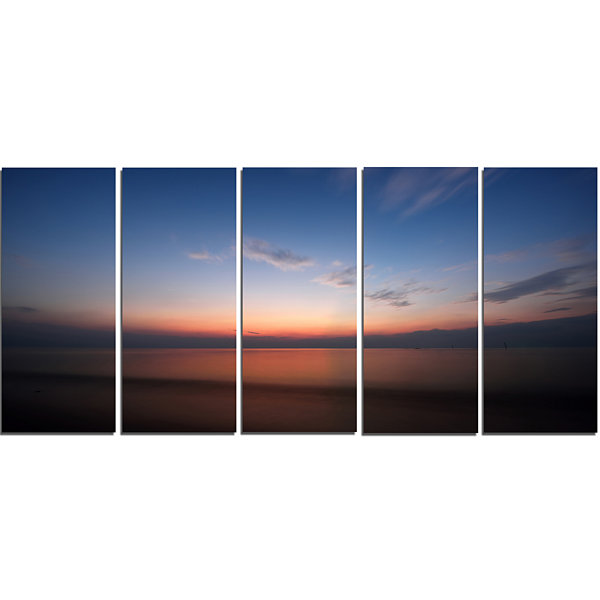 Designart Ko Samui Sea Sunrise Panorama OversizedBeach Canvas Artwork - 5 Panels