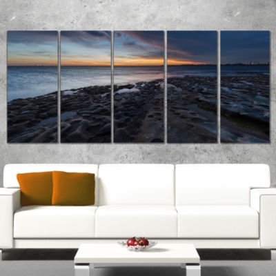 Designart La Perouse Beach Sydney Seascape CanvasArt Print- 4 Panels
