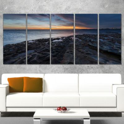 Designart La Perouse Beach Sydney Seascape WrappedCanvas Art Print - 5 Panels