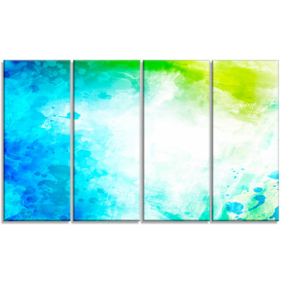 Abstract Watercolor Art Abstract Canvas Artwork -4 Panels