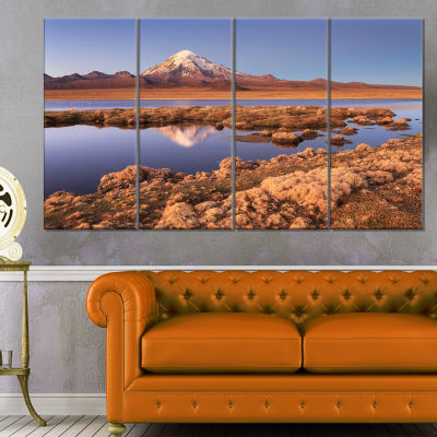 Sajama National Park Bolivia Large Landscape Canvas Art - 4 Panels