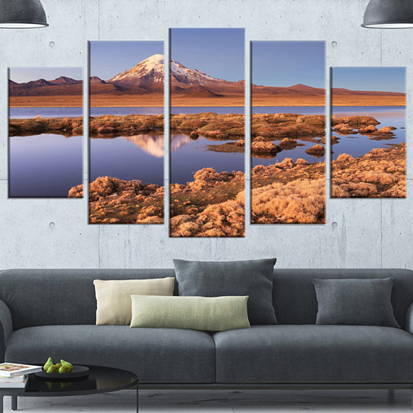 Designart Sajama National Park Bolivia Large Landscape Canvas Art - 5 Panels