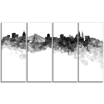 Sao Paulo Skyline Cityscape Canvas Artwork Print -4 Panels