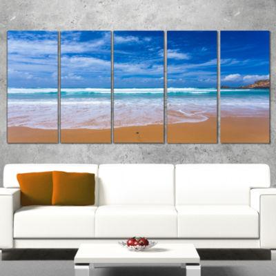 Serene atlantic Seashore Portugal Seascape WrappedArt Print - 5 Panels