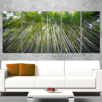 Designart Bamboo Forest of Kyoto Japan. Forest Canvas Wall Art Print - 4 Panels