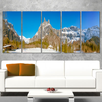 Sixt Fer A Cheval Panoramic View Landscape WrappedArt Print - 5 Panels