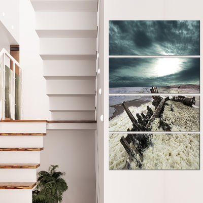 Skeleton Coast National Park Landscape Canvas ArtPrint - 4 Panels