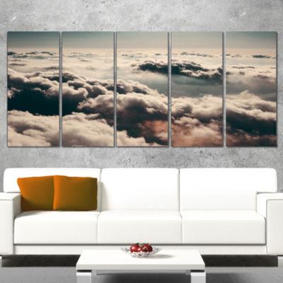Designart Sky Above Dark Heavy Clouds ContemporaryLandscapeCanvas Art - 4 Panels
