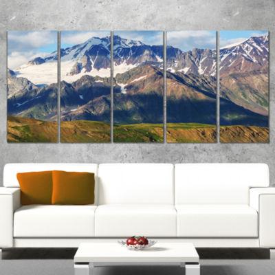Designart Beautiful Caucasus Mountains LandscapeCanvas Art Print - 4 Panels