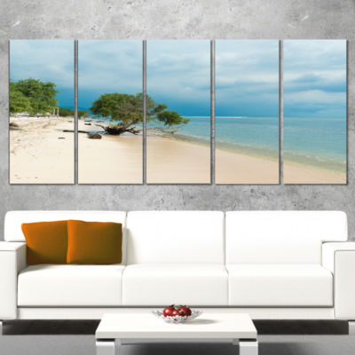 Designart Beautiful Coastline in indonesia ModernSeascape Canvas Artwork - 4 Panels