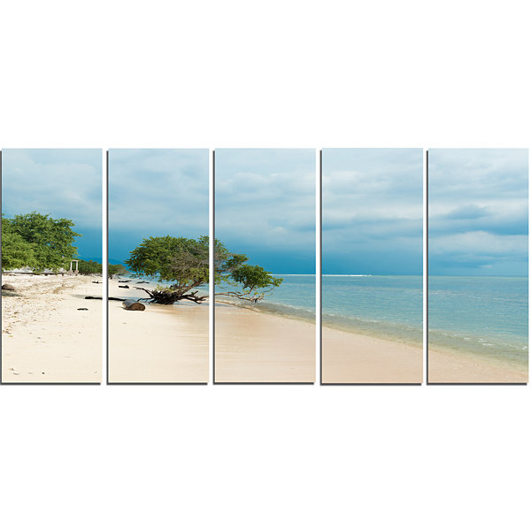Designart Beautiful Coastline in indonesia ModernSeascape Canvas Artwork - 5 Panels