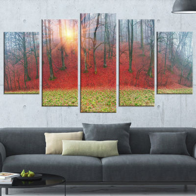 Designart Spring Flowers with Snowdrops LandscapePhotography Canvas Print - 4 Panels