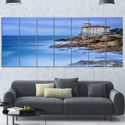 Designart Beautiful Italian Seashore View SeascapeCanvas Art Print - 4 Panels