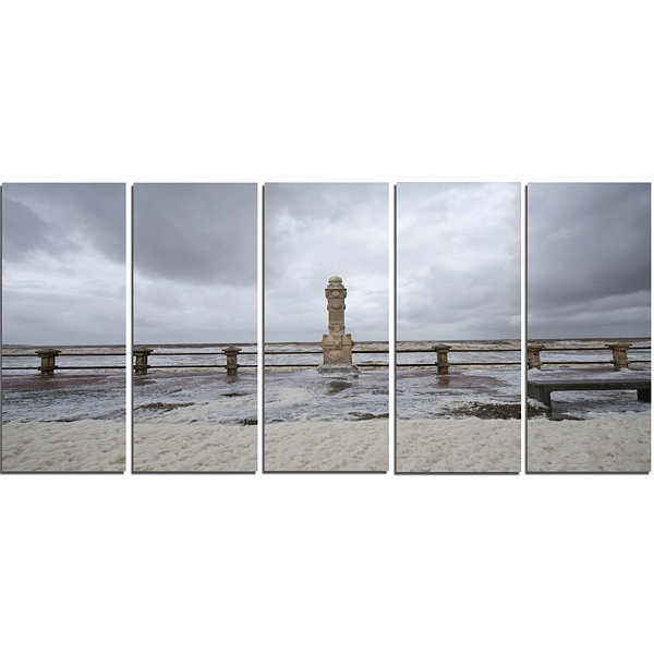 Spring Storm in Uruguay Panorama Bridge Canvas ArtPrint - 5 Panels