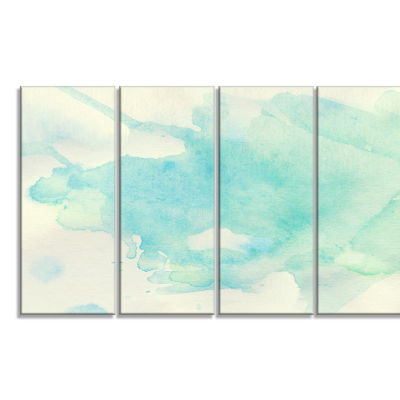Designart Stain of Imagination Abstract Canvas ArtPrint - 4Panels