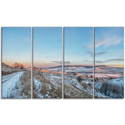 Designart Stavropol Region North Caucasus Landscape Print Wall Artwork - 4 Panels