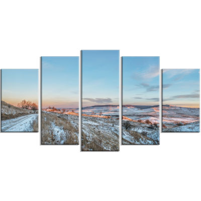 Stavropol Region North Caucasus Landscape Print Wrapped Wall Artwork - 5 Panels