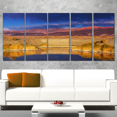 Designart Beautiful Northern Argentina View Oversized African Landscape Wrapped Canvas Art - 5 Panels