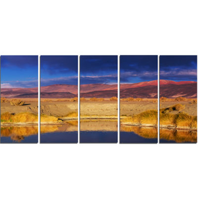 Designart Beautiful Northern Argentina View Oversized African Landscape Canvas Art - 5 Panels