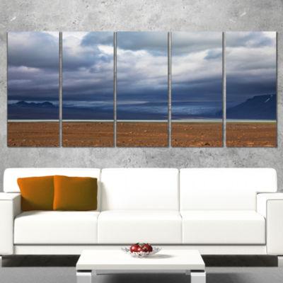 Stretch of Land Under Blue Sky Landscape Artwork Wrapped - 5 Panels