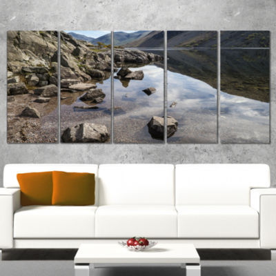 Designart Stunning Wast Water Reflection LandscapeArtwork Canvas - 5 Panels
