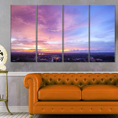 Designart Beautiful Sunset at Trang Thailand ExtraLarge Wall Art Landscape - 4 Panels