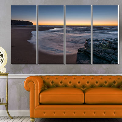 Designart Sunrise at Sydney Over Sea Seascape Canvas Art Print - 4 Panels