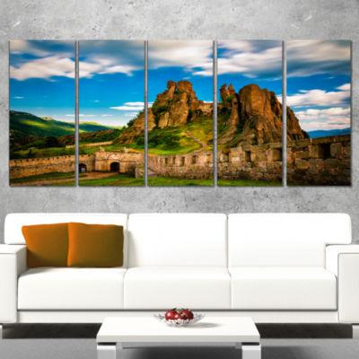 Designart Belogradchik Fortress and Cliffs Bulgaria Landscape Wrapped Canvas Art Print - 5 Panels