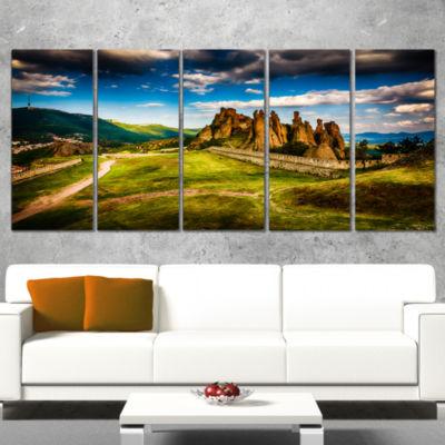 Designart Belogradchik Fortress and Cliffs Landscape Canvas Art Print - 4 Panels