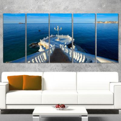 Designart Benidorm Mirador Del Castillo Lookout Point Seascape Wrapped Canvas Art Print - 5 Panels