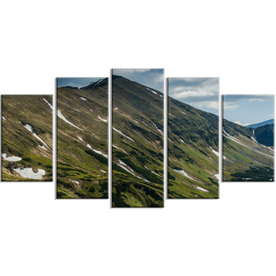 Designart Tatra Mountains Panoramic View LandscapeWrapped Art Print - 5 Panels