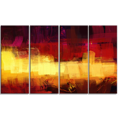 Textured Effect Digital Abstract Art Abstract Canvas Print - 4 Panels