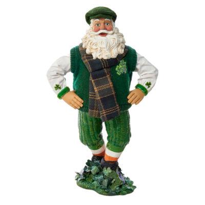 "Kurt Adler 10"" Fabriché™ Musical Irish Dancing Santa"