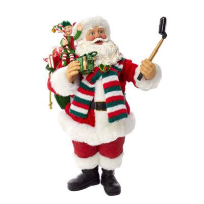 "Kurt Adler 10"" Fabriché™ Selfie Taking Santa With Elf Helper"