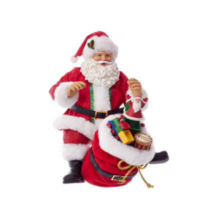 "Kurt Adler 8"" Fabriché™ Traditional Santa Shelf Sitter"