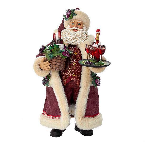 "Kurt Adler 11.5"" Fabriché™ Wine Santa"