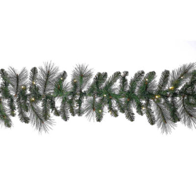 Kurt Adler 6-Foot Battery-Operated Pre-Lit LED Green Indoor/Outdoor Garland