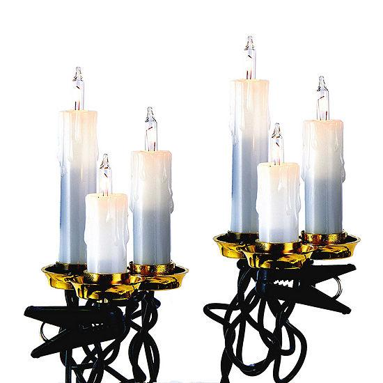 Kurt Adler Triple Candle Clear Indoor String Lights