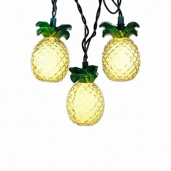 Kurt Adler Glass-Look Pineapple Light Set
