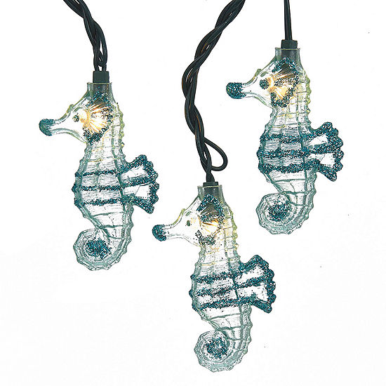 Kurt Adler Glittered Seahorse Light Set