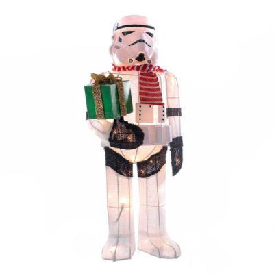 "Kurt Adler Star Wars™ 28"" Stormtrooper Lighted Tinsel Lawn Décor"