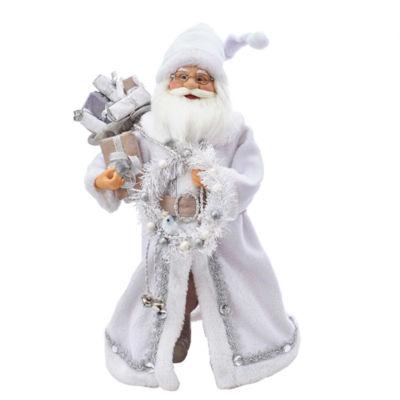 """Kurt Adler 18"""" KSA Kringles White Santa With Gift Bag"""