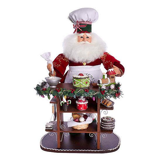 "Kurt Adler 21"" Chef Baking Santa Figurine"